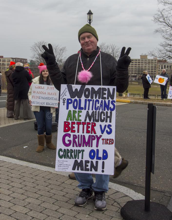 Hartford-Frauen im März 2019 stockbild