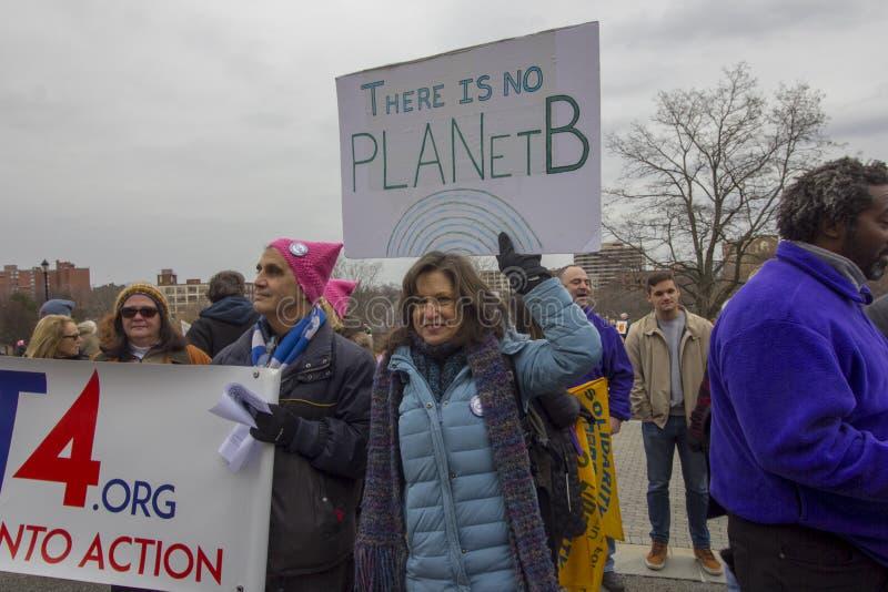 Hartford-Frauen im März 2019 lizenzfreies stockbild