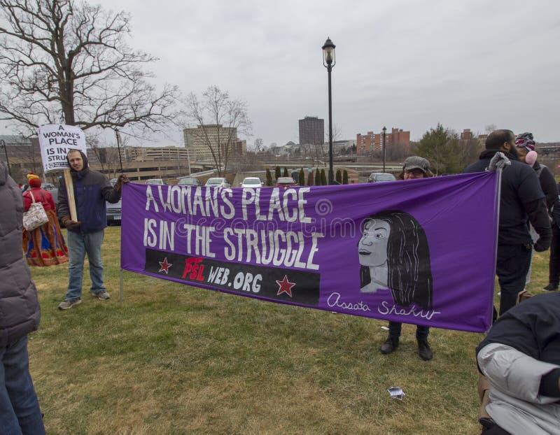 Hartford-Frauen im März 2019 lizenzfreie stockbilder