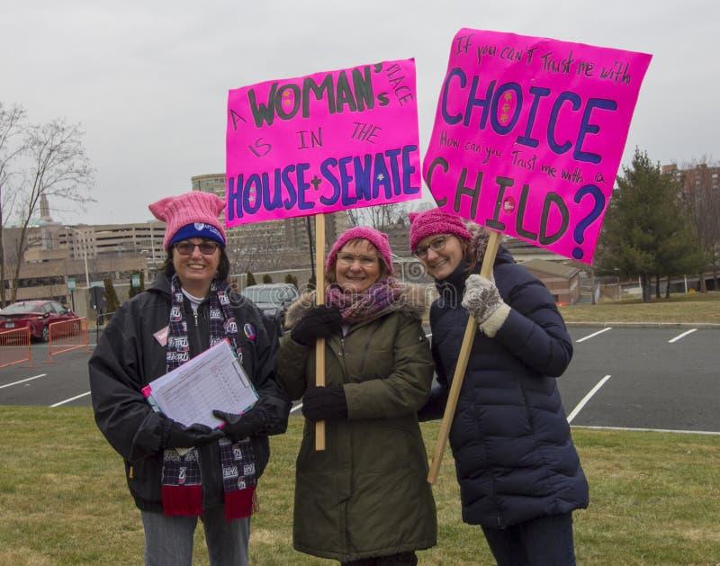 Hartford-Frauen im März 2019 stockfotos