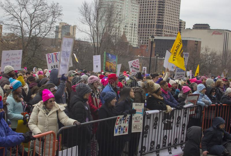 Hartford-Frauen im März 2019 stockbilder