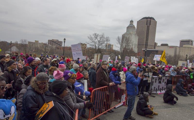 Hartford-Frauen im März 2019 lizenzfreie stockfotografie