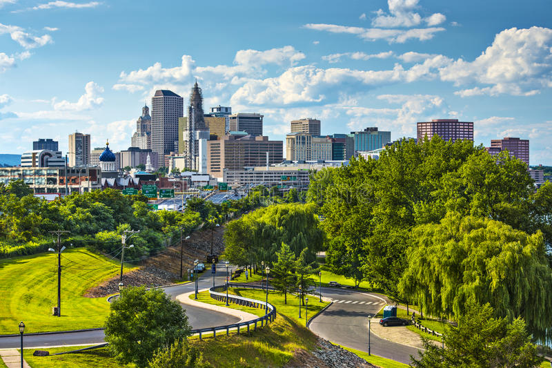 Hartford, le Connecticut photo libre de droits