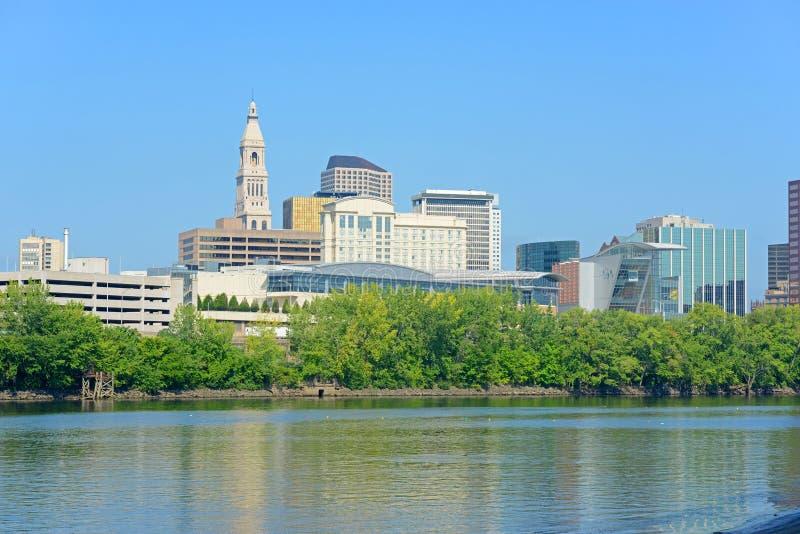 Hartford miasta nowożytna linia horyzontu, Connecticut, usa obrazy royalty free