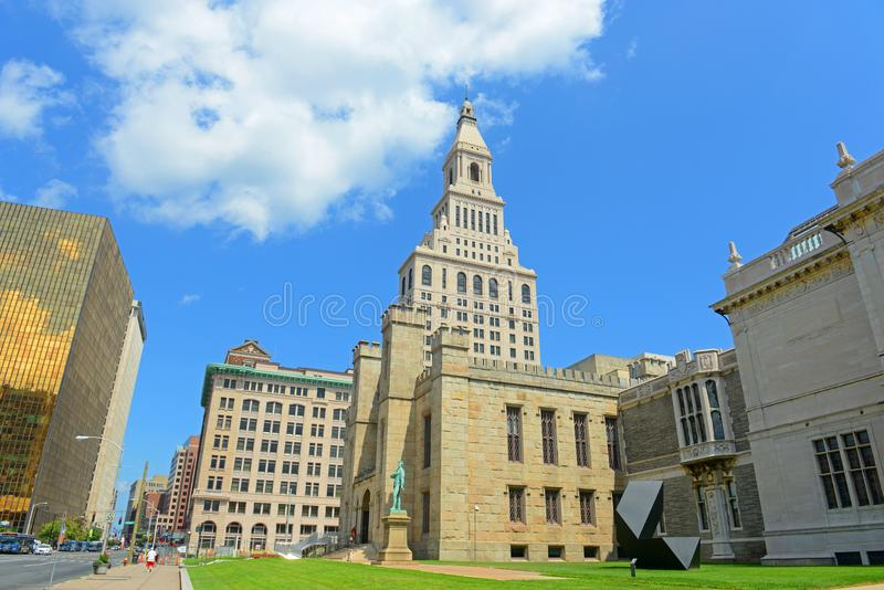Hartford miasta nowożytna linia horyzontu, Connecticut, usa obrazy stock