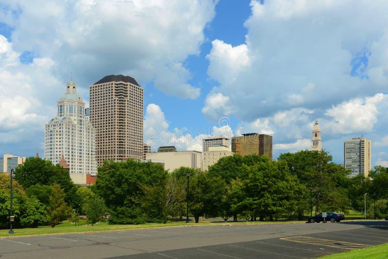 Hartford miasta nowożytna linia horyzontu, Connecticut, usa zdjęcie stock