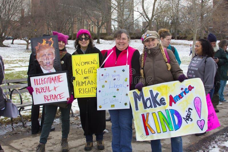 Hartford mulheres ` s março de 2018 foto de stock