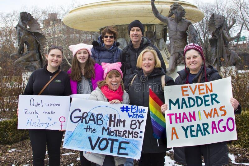 Hartford mulheres ` s março de 2018 fotografia de stock