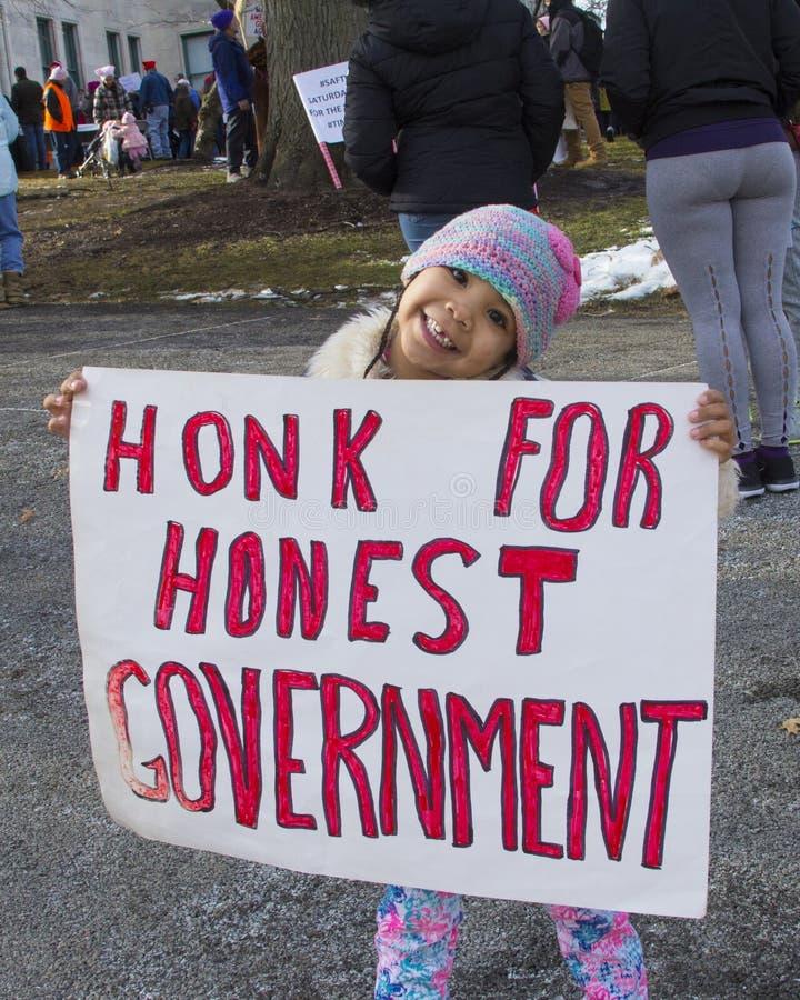 Hartford mulheres ` s março de 2018 imagens de stock royalty free