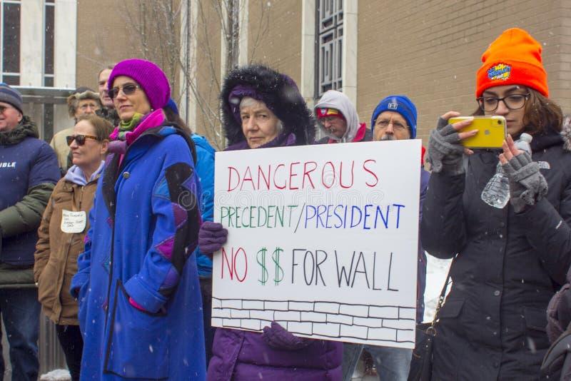 Hartford Nie Mój prezydenta dnia wiec 2019 obrazy stock