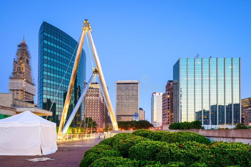 Hartford, paesaggio urbano di CT fotografia stock