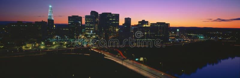 Hartford-Skyline lizenzfreies stockbild