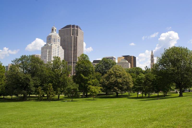 Hartford-Skyline lizenzfreie stockfotografie