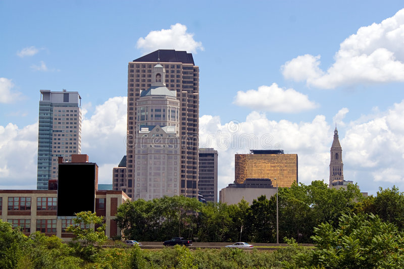 Hartford-Stadt-Skyline stockfotos