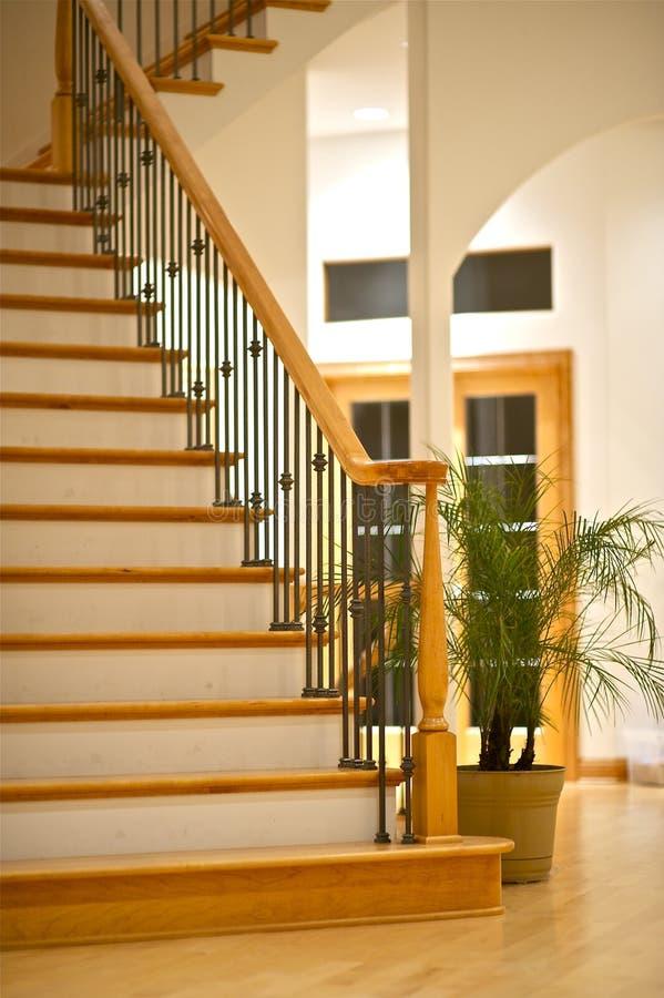Hartholz-Treppen stockbild