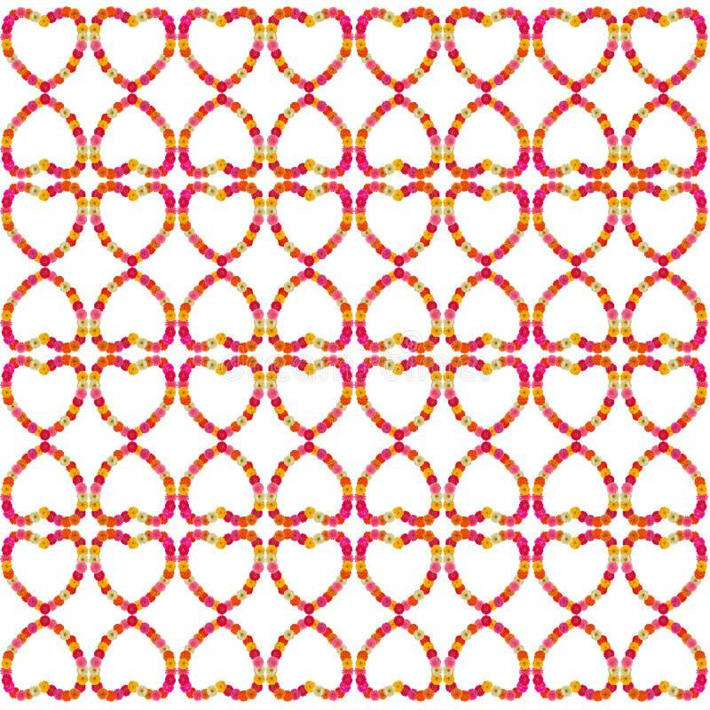 Hartkader van zinniasbloem royalty-vrije illustratie