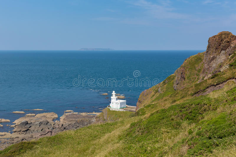 Hartland punktu latarnia morska Devon Anglia obraz stock