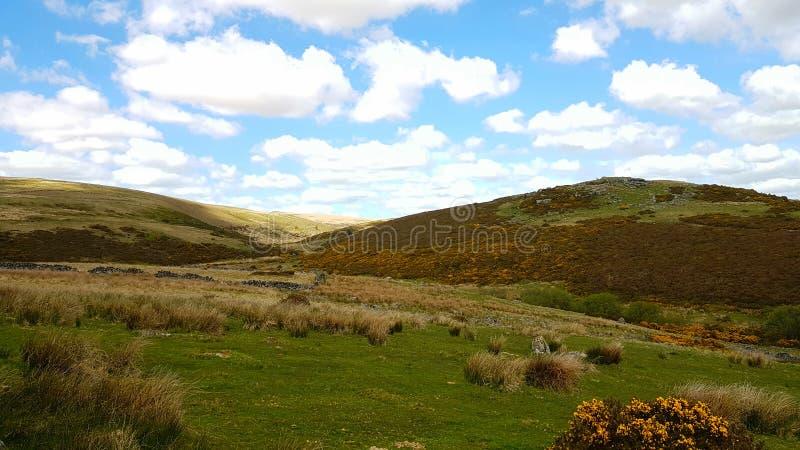 Hartlandpiek Dartmoor Nationaal Park in Devon het UK stock afbeeldingen