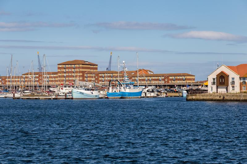 Hartlepool marina, UK royaltyfri foto