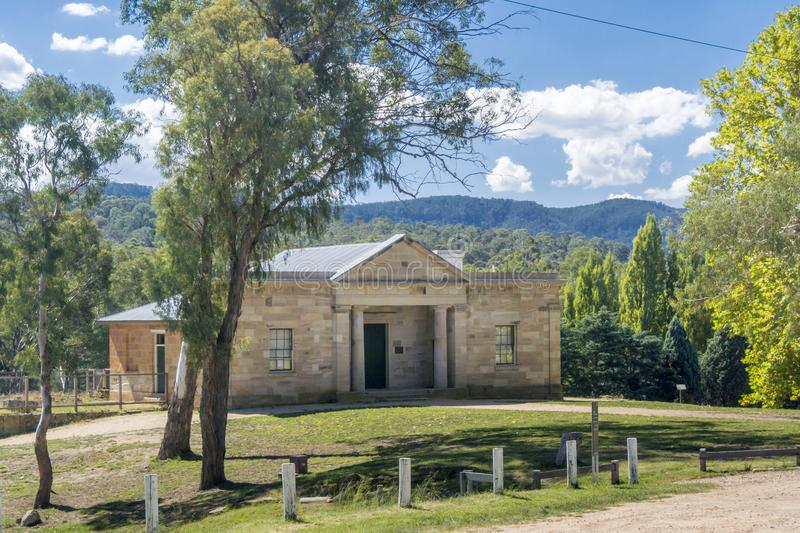 Hartley Courthouse Entrance, NSW, Austtralia royalty-vrije stock foto's