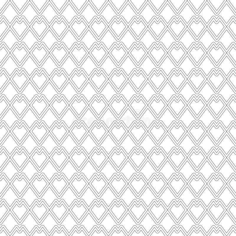 Hartpatroon kleurloos op witte achtergrond stock illustratie