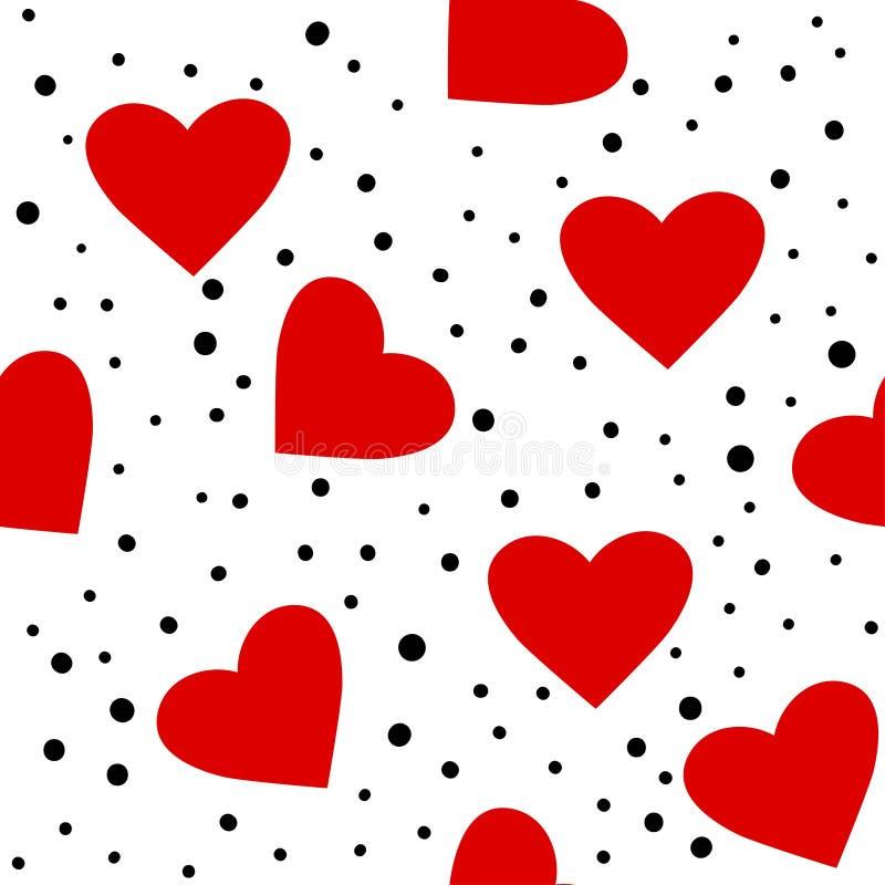 Hartpatroon Liefde naadloze gestippelde achtergrond Geweldig voor Valentijnsdag, bruiloft Herhaald ontwerp van vector Cartoon fla royalty-vrije illustratie