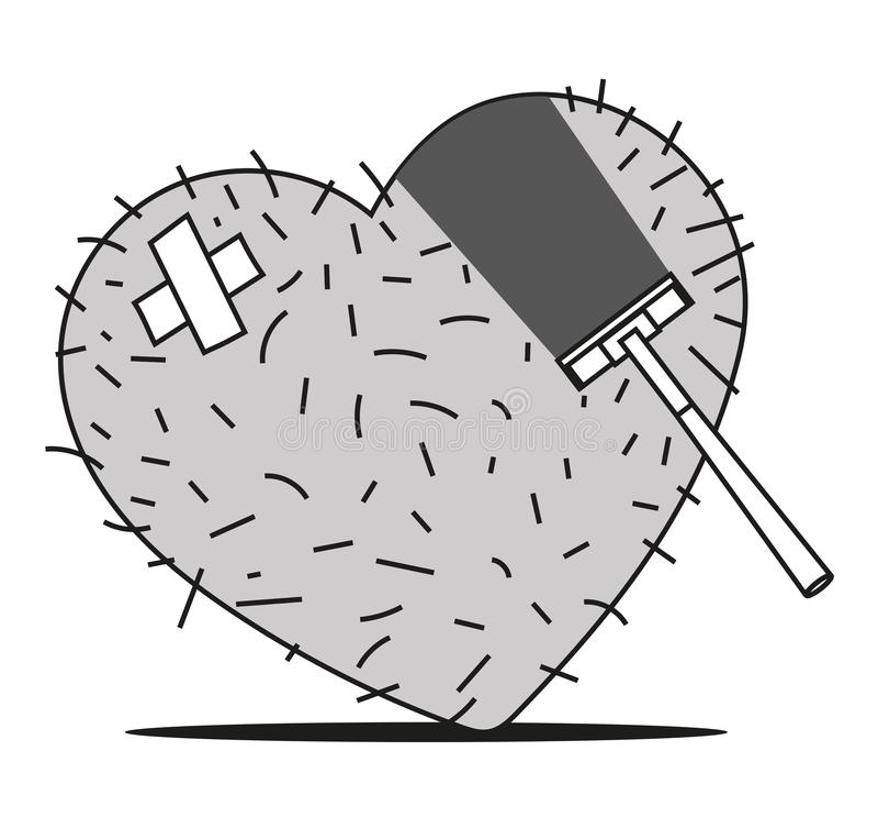 Hartscheerbeurt vector illustratie