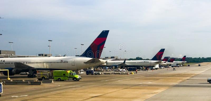 "Hartsfield†""Jackson Atlanta International Airport stock foto's"