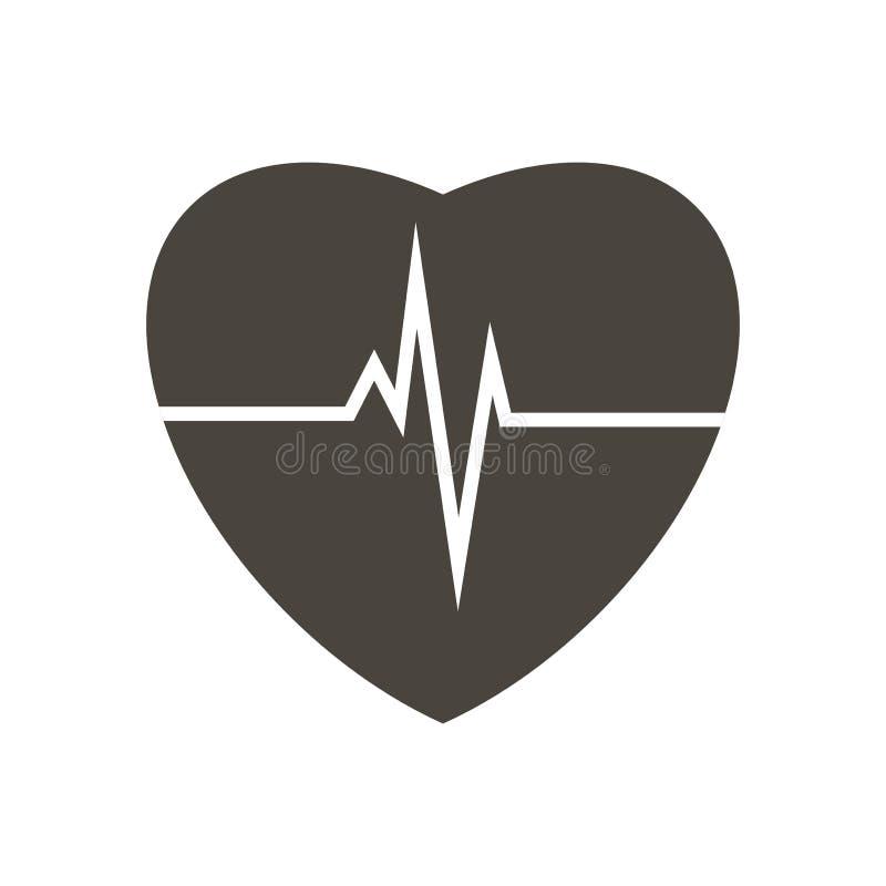 hartslag Illustratie van hart vector illustratie