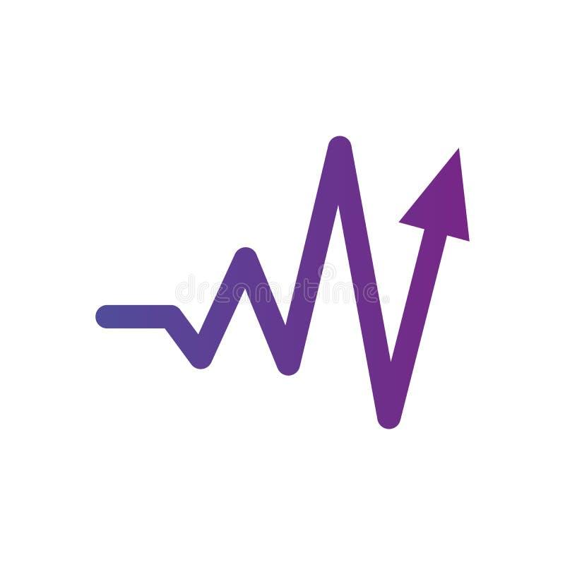 Hartslagteken met omhoog pijl Vector illustratie Het concept gezondheid Schoon ontwerp vector illustratie