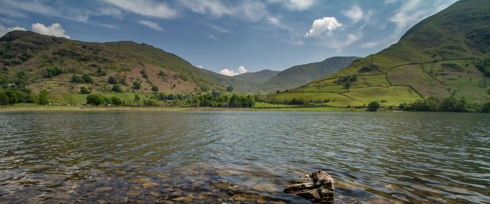 Hartsop in the lake district. Hartsop is a small village in the English Lake District. It lies in the Patterdale valley, near Brothers Water, Hayeswater and royalty free stock photos