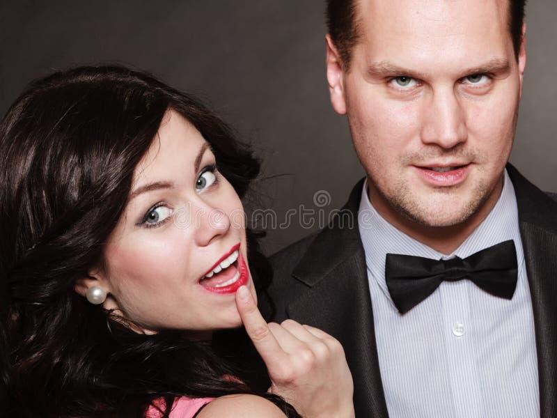 Hartstocht, seksueel paar royalty-vrije stock afbeelding