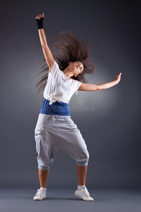 Hartstochtelijke jonge vrouwelijke danser stock afbeeldingen