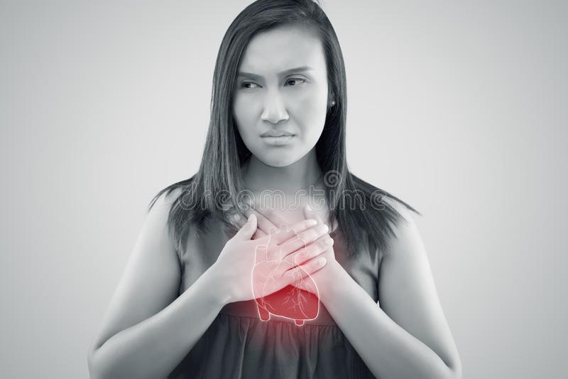 Hartverlamming van kransslagaderziekte, hartverlamming van kransslagaderziekte stock illustratie