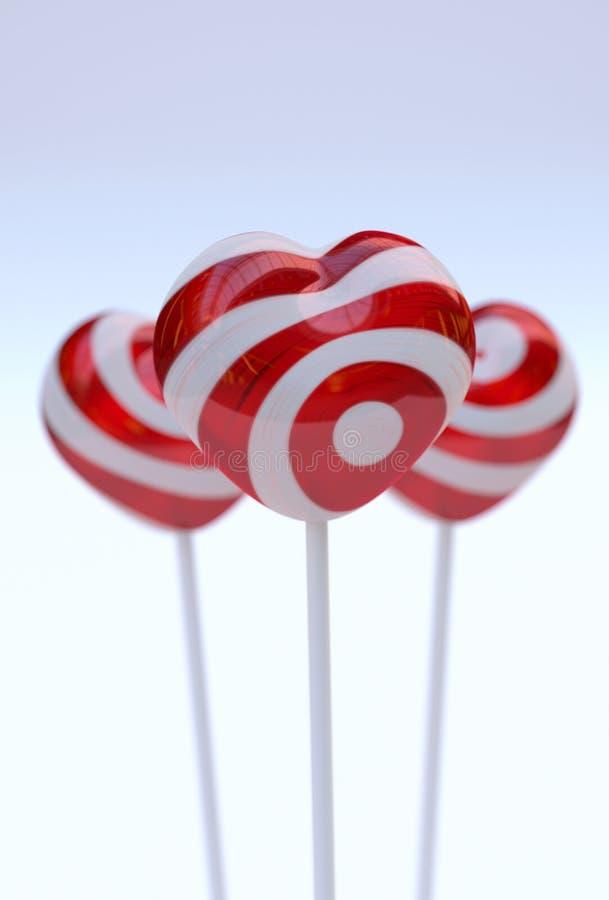 Download Hartvorm lollypops stock afbeelding. Afbeelding bestaande uit romaans - 39113735