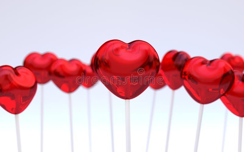 Download Hartvorm lollypops stock afbeelding. Afbeelding bestaande uit suikergoed - 39113737