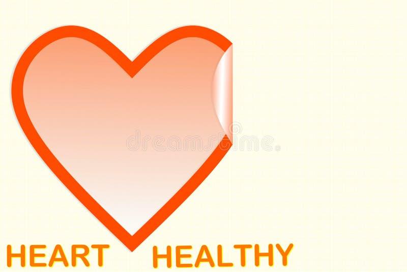 Hartvorm met hart gezonde teksten royalty-vrije illustratie