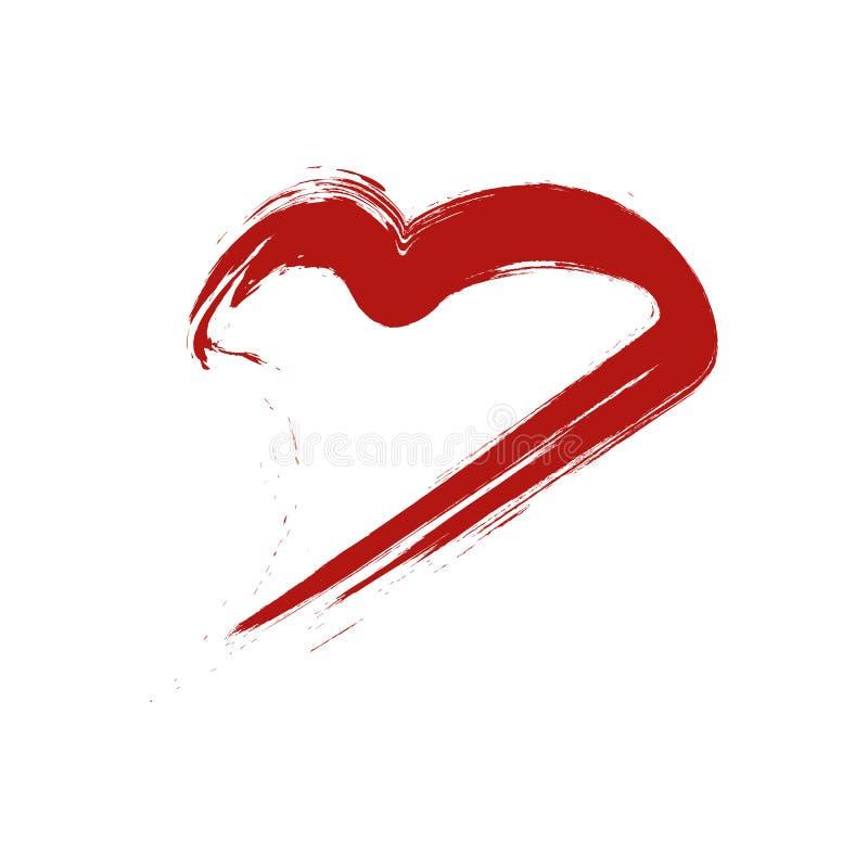 Hartvorm zoals vrouwenlip Het teken van de valentijnskaartendag en symboolconcept royalty-vrije illustratie
