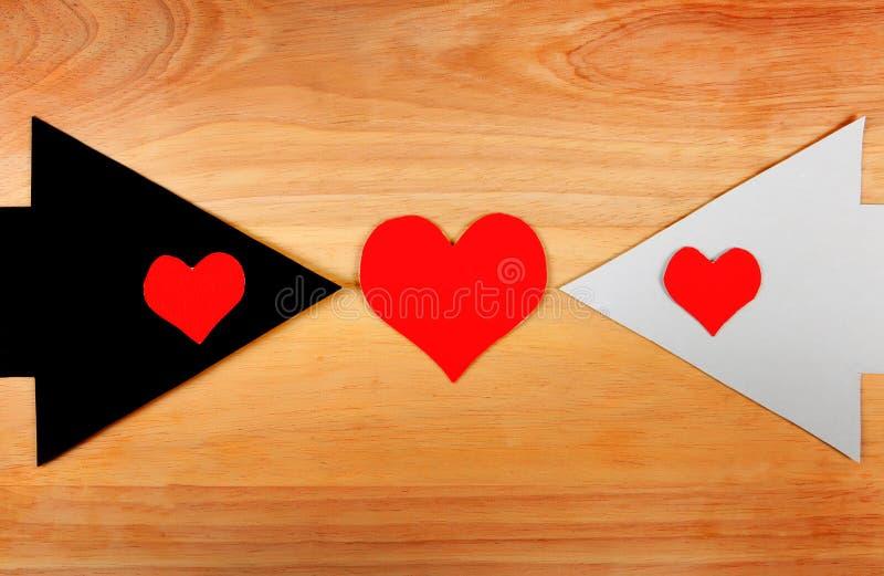 Hartvormen en de Pijlen stock foto's