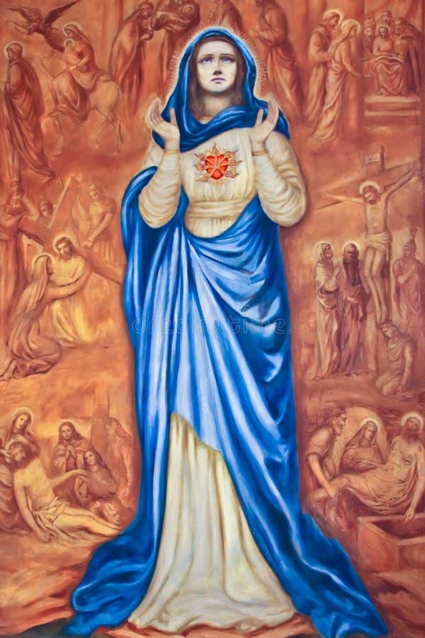 Hartzeer van Mary. stock afbeelding