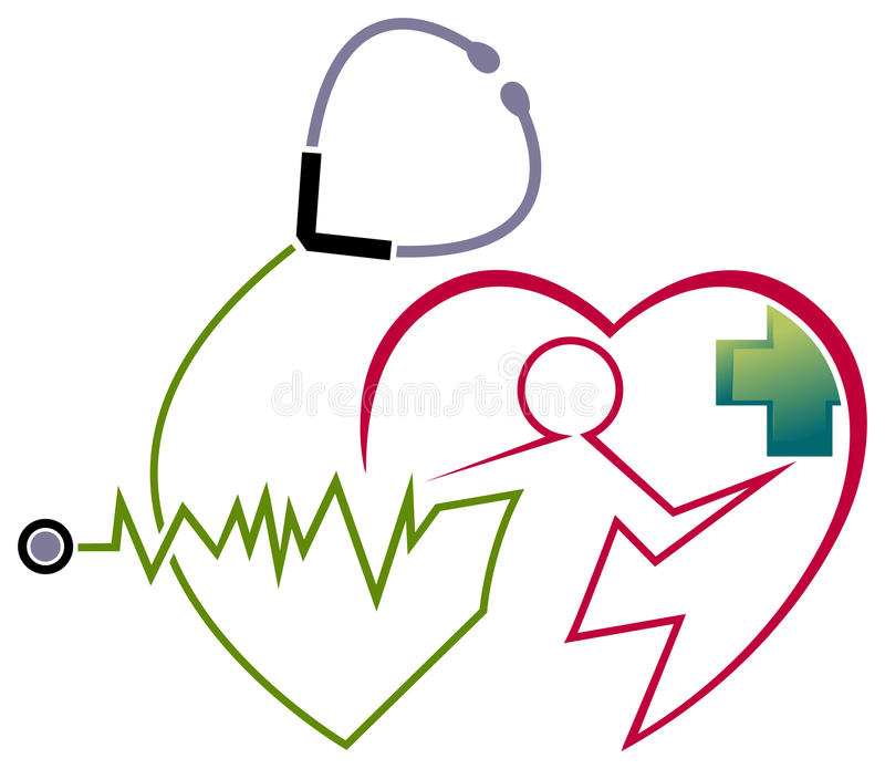 Hartzorg stock illustratie