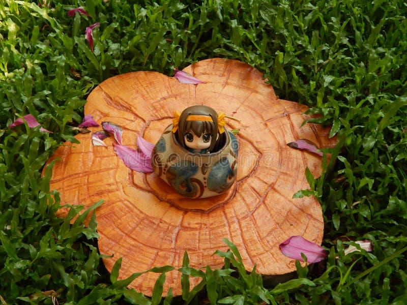 Haruhi nedgång i det keramiskt royaltyfria foton