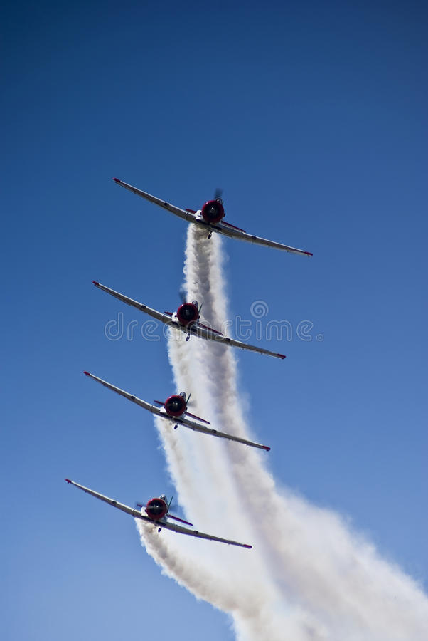 Harvard-Aerobatic Team, ankommend stockfoto