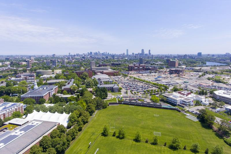 Harvard Business istruisce, Boston, Massachusetts, U.S.A. immagini stock