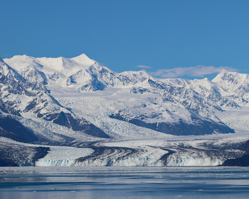 Harvard-Gletscher Prinz William Sound, Alaska lizenzfreie stockfotos