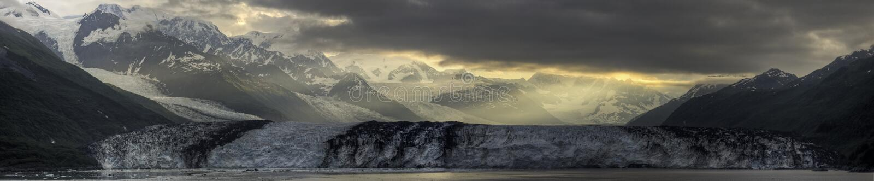 Harvard-Gletscher-Sonnenaufgang-Panorama lizenzfreie stockbilder