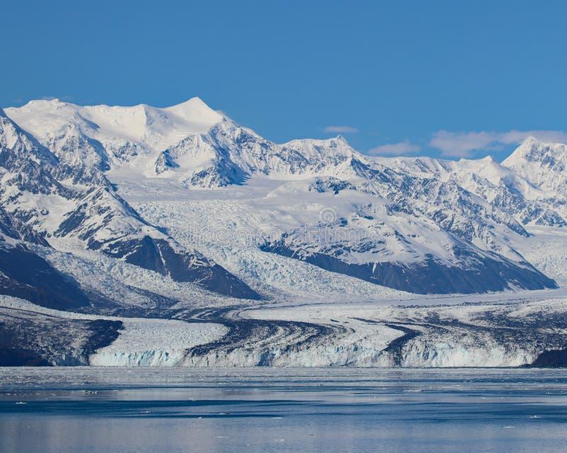 Harvard-Gletscher und -berge lizenzfreies stockfoto