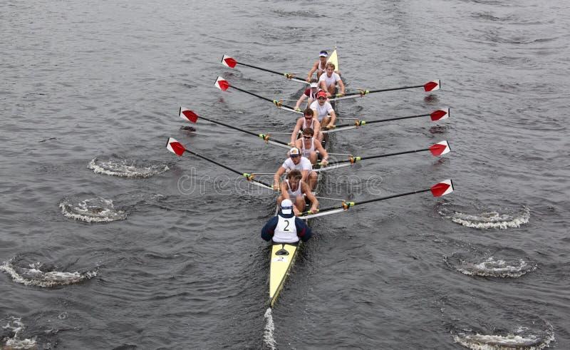 Harvard Men win head of the charles royalty free stock photos