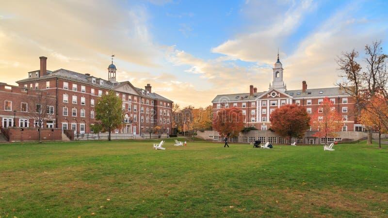 Harvard Moors Hall. CAMBRIDGE, MA, USA - NOVEMBER 2, 2013: Radcliffe Quad undergrad housing at Harvard University in Fall in Cambridge, MA, USA on November 2