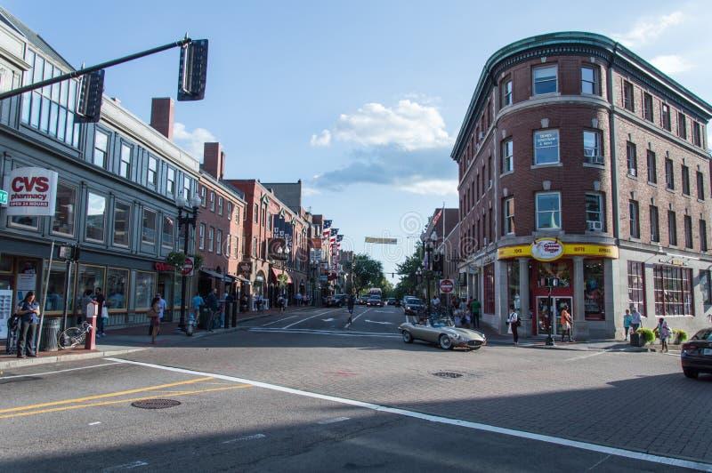Harvard Square stock photo